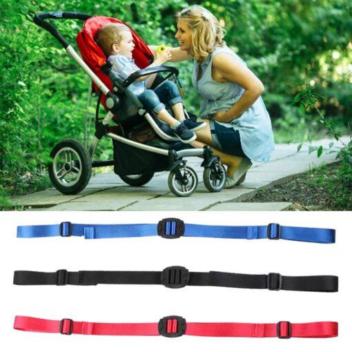 Stroller Backrest Retractable Belt Adjustable Retractable Belt Stroller Accessories Universal Backrest Releasable Safety Belt 4