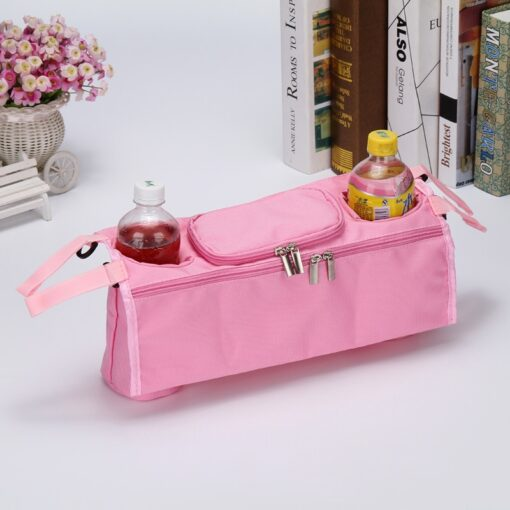 Stroller Organizer For Diaper Clothes Towels Straps Hanging Bag baby Carriage bag Baby stroller bottle storage 1