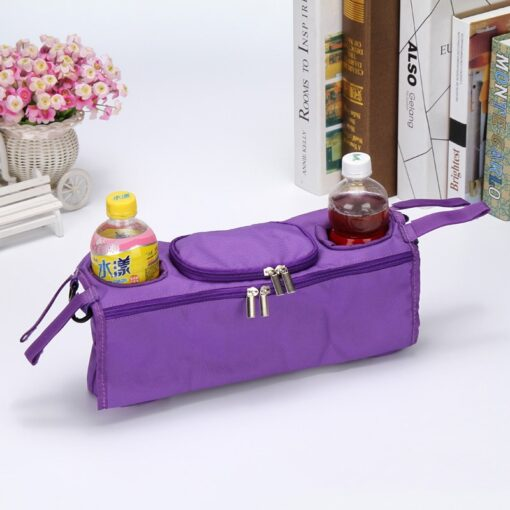 Stroller Organizer For Diaper Clothes Towels Straps Hanging Bag baby Carriage bag Baby stroller bottle storage 2