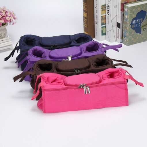 Stroller Organizer For Diaper Clothes Towels Straps Hanging Bag baby Carriage bag Baby stroller bottle storage 3