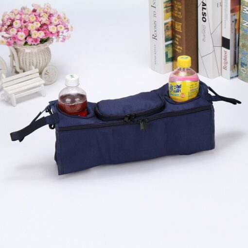 Stroller Organizer For Diaper Clothes Towels Straps Hanging Bag baby Carriage bag Baby stroller bottle storage 4