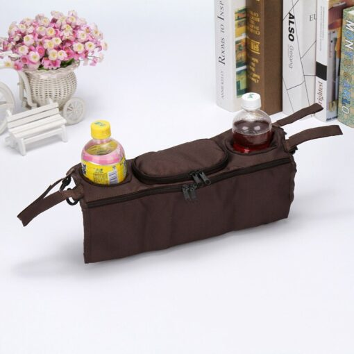 Stroller Organizer For Diaper Clothes Towels Straps Hanging Bag baby Carriage bag Baby stroller bottle storage 5