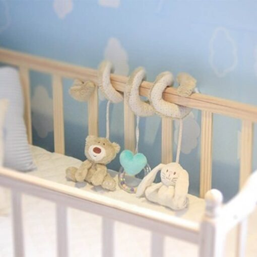 Stroller Toy Accesaries Hanging Crib Rattle Toys Baby Stroller Hanging Toy For Infant Baby play Activity 5