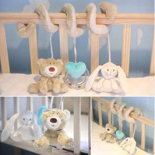 Stroller Toy Accesaries Hanging Crib Rattle Toys Baby Stroller Hanging Toy For Infant Baby play Activity 6