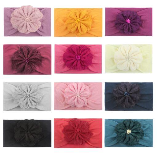 Styling Lovely Baby Headband Turban Flower Newborn Baby Girl Headbands Elastic Kids Toddler Hair Band Hairband 1