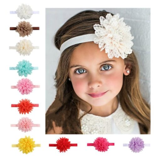Styling Lovely Baby Headband Turban Flower Newborn Baby Girl Headbands Elastic Kids Toddler Hair Band Hairband 3