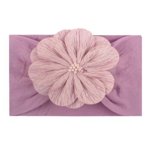 Styling Lovely Baby Headband Turban Flower Newborn Baby Girl Headbands Elastic Kids Toddler Hair Band Hairband 4