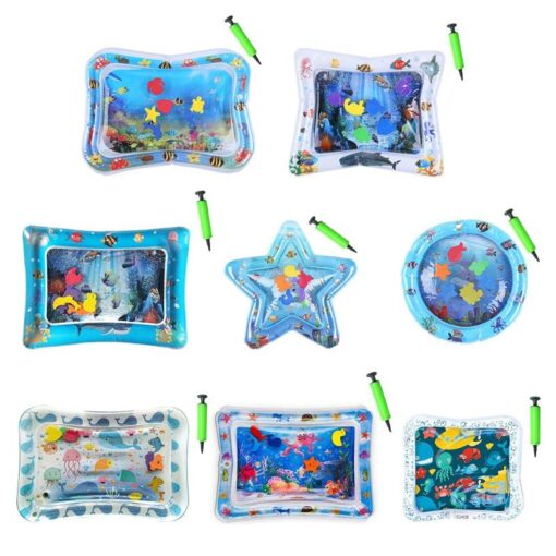 Summer Baby Activity Gym Mat Kid Water Play Mat Inflatable Ice Cushion Multifunction Playmat Toys