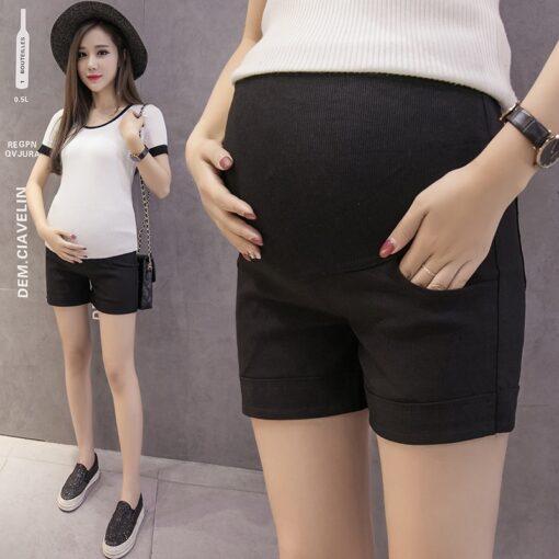 Summer Cotton Maternity Belly Short Pants Pregnant Women Shorts Pregnancy Short Trousers Adjustable Belly Clothes Korean 2