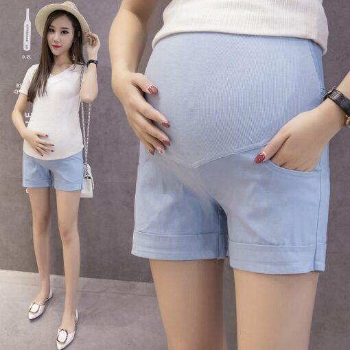 Summer Cotton Maternity Belly Short Pants Pregnant Women Shorts Pregnancy Short Trousers Adjustable Belly Clothes Korean