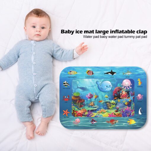 Summer Infant Ice Patted Cushion Water Baby Inflatable Mat Early Educational Toy Children Portable Interactive Present 1