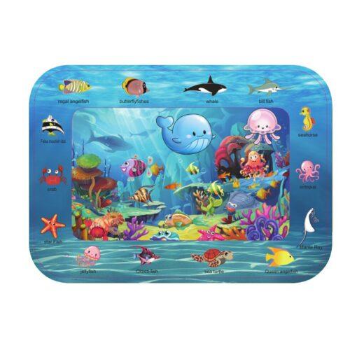 Summer Infant Ice Patted Cushion Water Baby Inflatable Mat Early Educational Toy Children Portable Interactive Present 5