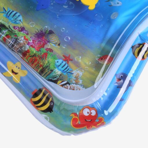 Summer Inflatable Baby Water Play Mat Tummy Time Playmat for babies Safety Safety Cushion Ice Mat 4