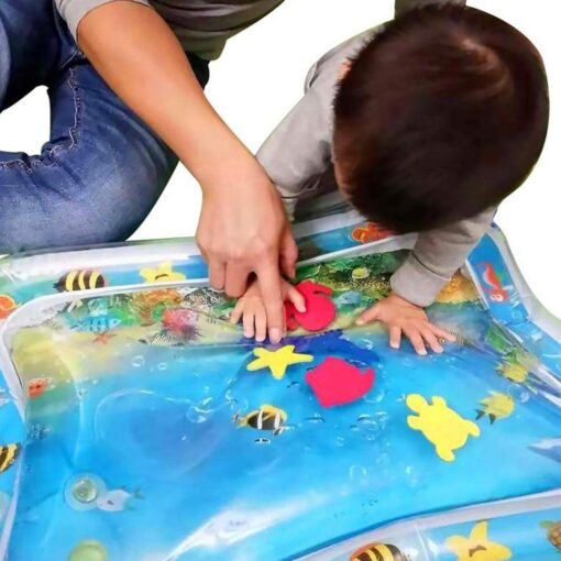Summer Inflatable Baby Water Play Mat Tummy Time Playmat for babies Safety Safety Cushion Ice Mat 5