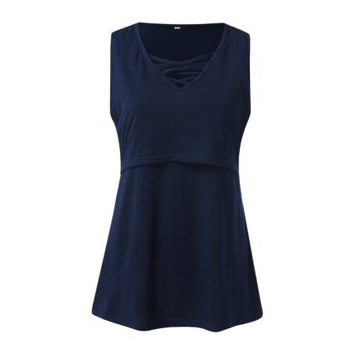 Summer Pregnant Women Short Sleeves Fashion Sexy V neck Breastfeeding Top Comfortable High quality Nursing T 3