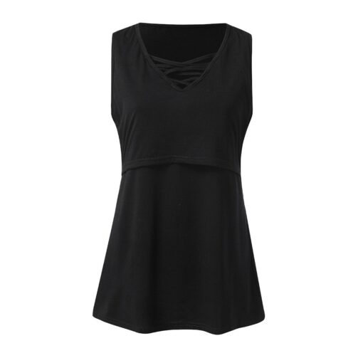 Summer Pregnant Women Short Sleeves Fashion Sexy V neck Breastfeeding Top Comfortable High quality Nursing T 5