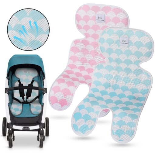Summer Stroller Cooling Pad 3D Air Mesh Breathable Stroller Mat Mattress Car Seat Cover Cushion for 2