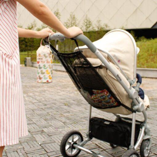 Summer child stroller net pocket trolley baby supplies baby stroller storage bag hanging bag car storage 3