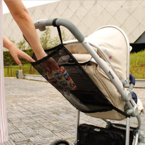Summer child stroller net pocket trolley baby supplies baby stroller storage bag hanging bag car storage 4