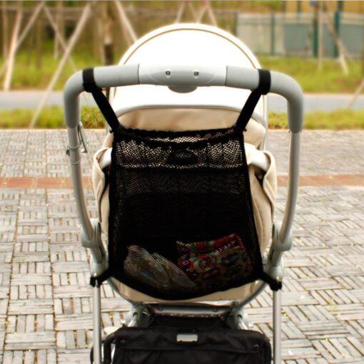 Summer child stroller net pocket trolley baby supplies baby stroller storage bag hanging bag car storage