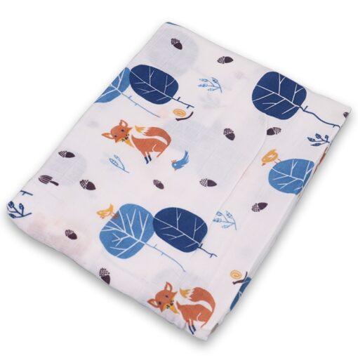 Swaddle blanket Cotton Baby Blankets Newborn Soft Baby Blanket Muslin Swaddle Wrap Feeding Burp Cloth Towel 2