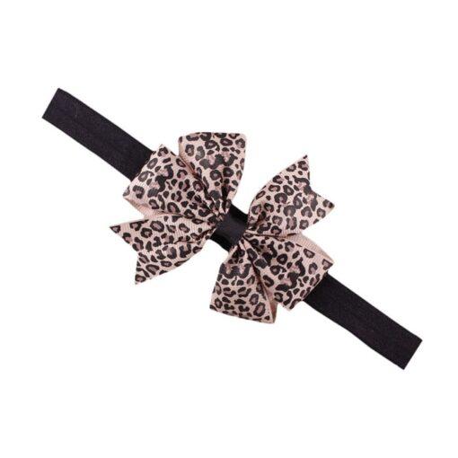 Sweet Lovely Children Elastic Force Hair Band Princess Baby Girl Round Dot Bowknot Leopard Hairband Polka