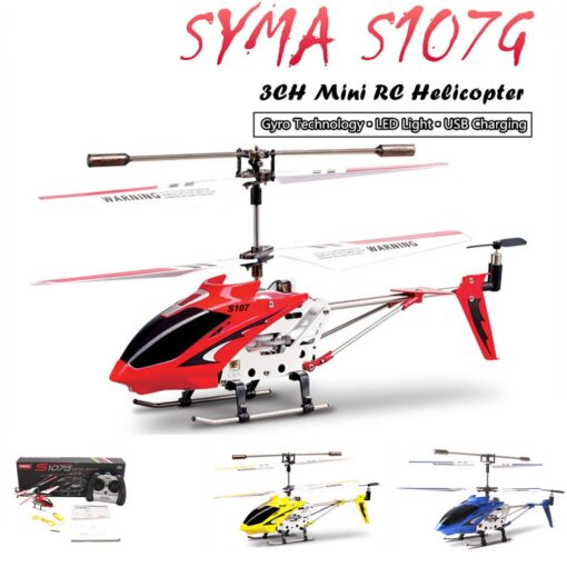 Syma S107G RC Helicopter 3 5CH Alloy Copter Quadcopter Built in Gyro Helicopter