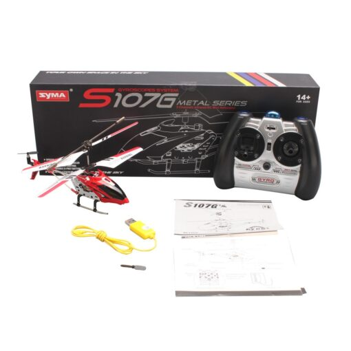 Syma S107g Rc Helicopter 3 5ch Alloy Copter Quadcopter Built in Gyro Helicopter Outdoor Toys With 4