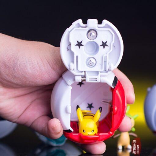 TAKARA TOMY 7CM Pokemon Elf Ball Pikachu Pokeball cartoon movie with Pikachu action figure model Educational 5