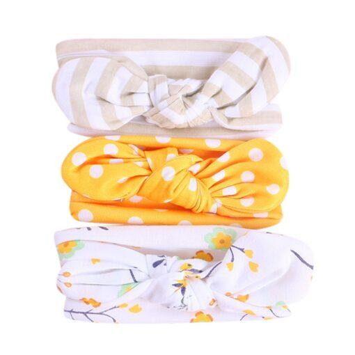 TELOTUNY 2019 NEW 3pcs lot Baby Headband Florals Hairwear For Newborn Baby Girls Elastic Bowknot Headband 2
