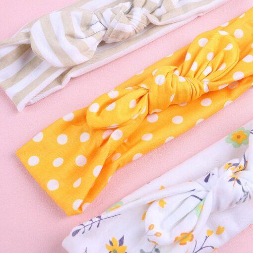 TELOTUNY 2019 NEW 3pcs lot Baby Headband Florals Hairwear For Newborn Baby Girls Elastic Bowknot Headband 4