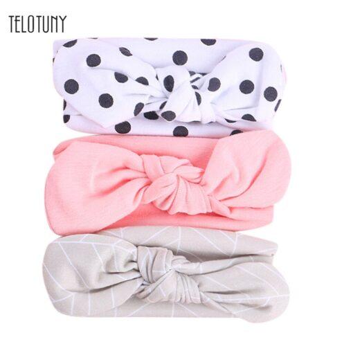 TELOTUNY 2019 NEW 3pcs lot Baby Headband Florals Hairwear For Newborn Baby Girls Elastic Bowknot Headband
