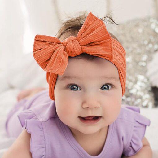 TELOTUNY Baby Headband Baby Girls Headbands for Girl Headwear Baby Bows Turban Headband Nylon Hair Headwear 1