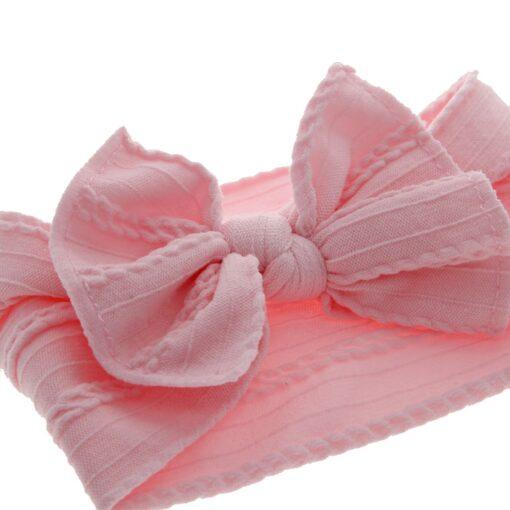 TELOTUNY Baby Headband Baby Girls Headbands for Girl Headwear Baby Bows Turban Headband Nylon Hair Headwear 5