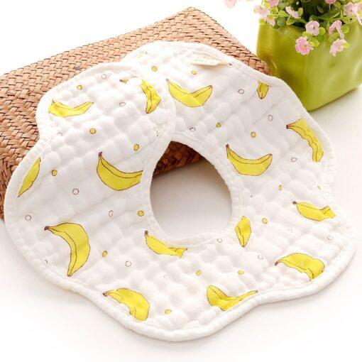 TELOTUNY baby boy Newborn Infants Cartoon Printing Cotton Soft 360 Degree Rotating Bibs Saliva Towel baby 3
