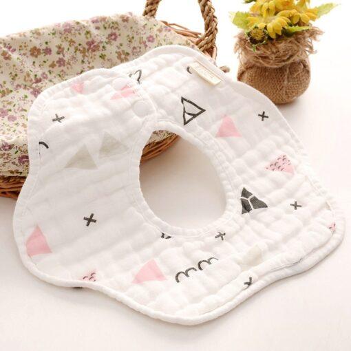 TELOTUNY baby boy Newborn Infants Cartoon Printing Cotton Soft 360 Degree Rotating Bibs Saliva Towel baby 4