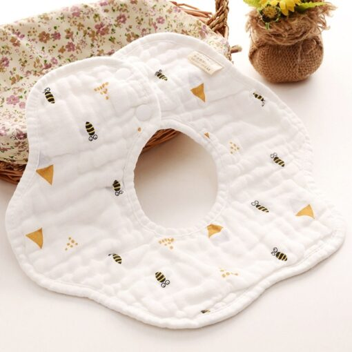 TELOTUNY baby boy Newborn Infants Cartoon Printing Cotton Soft 360 Degree Rotating Bibs Saliva Towel baby