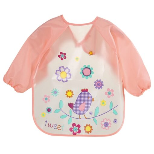TELOTUNY siliconen slabber Baby Bibs Long sleeve EVA Cartoon Kids Drawing Smock Feeding Accessories baby bibs 1