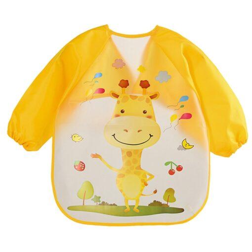 TELOTUNY siliconen slabber Baby Bibs Long sleeve EVA Cartoon Kids Drawing Smock Feeding Accessories baby bibs 3
