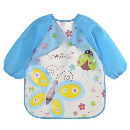 TELOTUNY siliconen slabber Baby Bibs Long sleeve EVA Cartoon Kids Drawing Smock Feeding Accessories baby bibs 5
