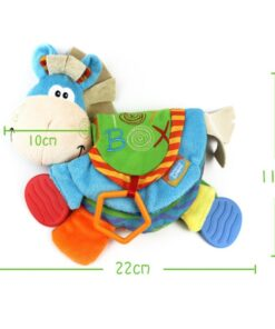 TOP Newborn Baby Rattles Teether Toys Cute Donkey Animal Cloth Book For Toddlers Learning early Education 1
