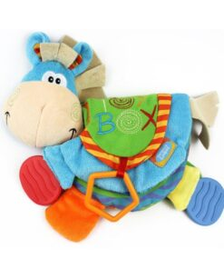TOP Newborn Baby Rattles Teether Toys Cute Donkey Animal Cloth Book For Toddlers Learning early Education 2