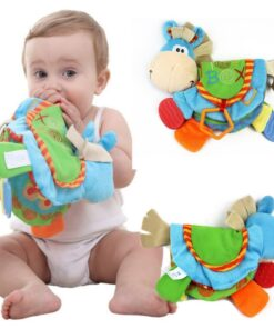 TOP Newborn Baby Rattles Teether Toys Cute Donkey Animal Cloth Book For Toddlers Learning early Education