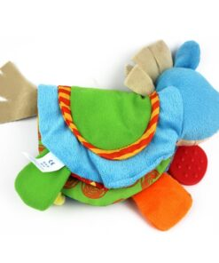 TOP Newborn Baby Rattles Teether Toys Cute Donkey Animal Cloth Book For Toddlers Learning early Education 3
