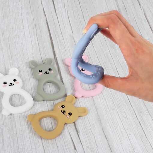 TYRY HU Silicone Teether Cartoon Animal BPA Free Rodents Teething Necklace Food Grade Infant Chewable Toys 2