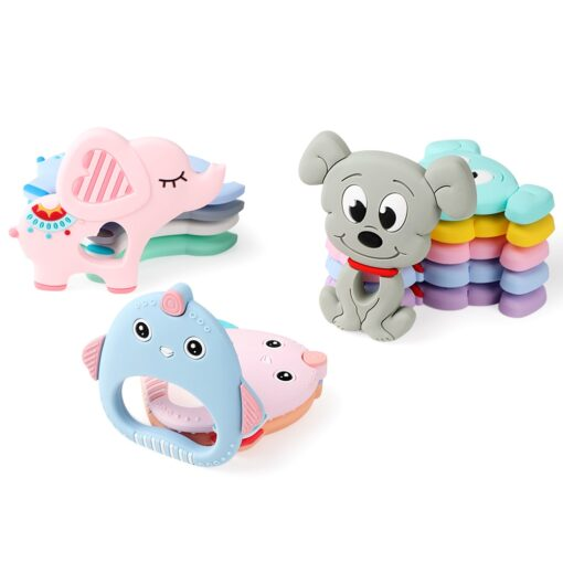 TYRY HU Silicone Teether Cartoon Animal BPA Free Rodents Teething Necklace Food Grade Infant Chewable Toys 3
