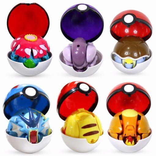 Takara Tomy Pokemon Pokeball Set Pop up Elf Ball Toys TAKARA TOMY Original Pokemon Monster Elf 4
