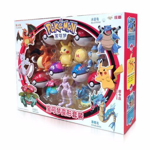 Takara Tomy Pokemon Pokeball Set Pop up Elf Ball Toys TAKARA TOMY Original Pokemon Monster Elf 5