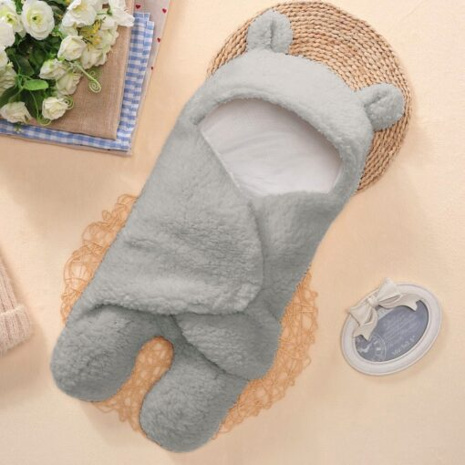 Thicken Soft Newborn Swaddle Wrap Flannel Baby Sleep Bag Soft and Skin friendly Gentle Cashmere Infant 4