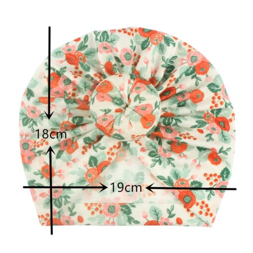 Toddler Kids Baby Girl Floral Print Knotted Hat Beanie Headwear Accessories Floral Print Knotted Cap Cotton 11